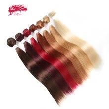 Ali kraliçe saç brezilyalı Remy insan saç örgüleri demetleri #613/#33/#30/#27/# 99J/# BURG düz insan saçı uzantıları saç atkı