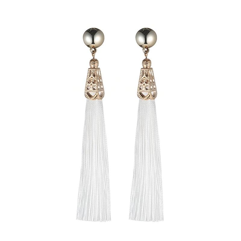 LOVBEAFAS Bohemian Drop Dangle Earrings Silk Fabric Vintage Statement Earrings Brand Tassel Earrings For Women Fashion Jewelry