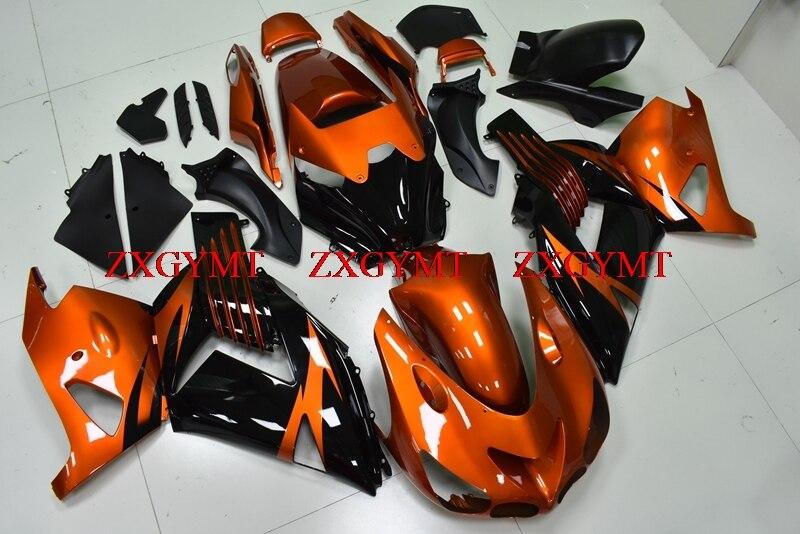 Abs Fairing for ZZ-R1400 2006 - 2011 Abs Fairing Zx14 Zx-14r 06 07 Orange Black Fairings ZZ-R1400 10 11Abs Fairing for ZZ-R1400 2006 - 2011 Abs Fairing Zx14 Zx-14r 06 07 Orange Black Fairings ZZ-R1400 10 11
