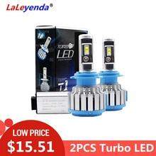 LaLeyenda Headlight Tubo LED H7 H4 9007 9005 9006 H1 H13 9004 H8/H11 880/H27 70W/Pair 7000LM Auto Car Bulb 6000K Fog Front Light