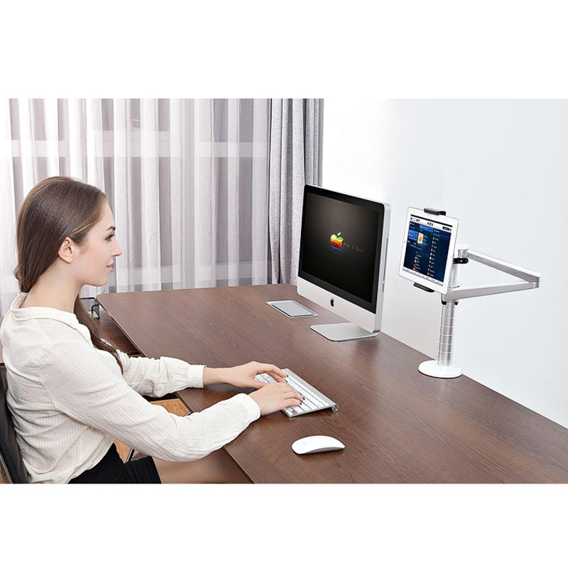 360-Rotating-Height-Adjustable-Desk-bed-Holder-mount-for-Laptop-notebook-iPAD-Pro-12-9-Ipad (4)