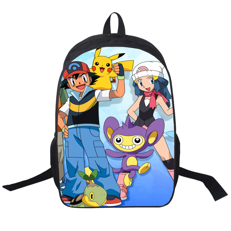 Anime My Neighbor Totoro PIKACHU ONE PIECE NARUTO FATE Printing Backpack men women Backpacks Boys Girls School Bags 27 style