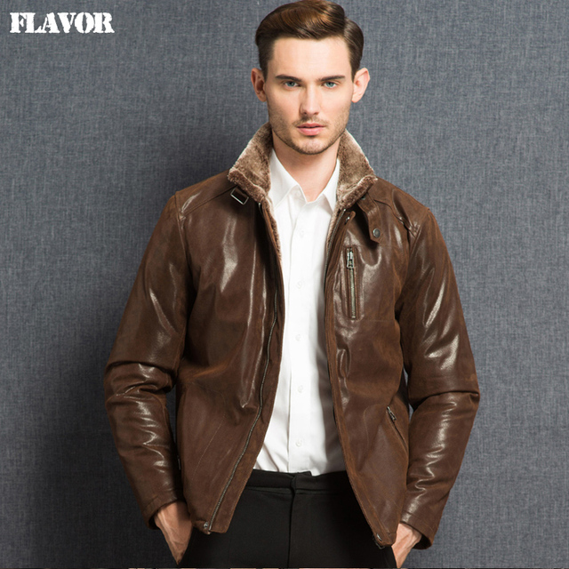 Aliexpress.com : Buy 2016 Men's double face real leather jacket ...