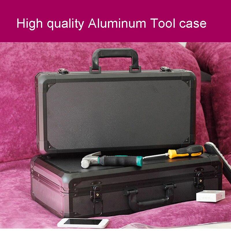 Mallette à outils en aluminium valise boîte à outils boîte à outils résistant aux chocs étui de sécurité équipement étui pour appareil photo avec doublure en mousse pré-découpée