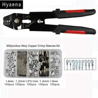 Hyaena High Carbon Steel Crimper Sleeves Suitable For 0 1 2 2mm Sleeve With Side Cutters