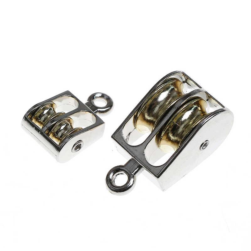 36/52/75 มม./Double Pulley สำหรับ DIY โลหะมัดสังกะสีอัลลอยด์ Fixed Pulley Crown Block และ Tackle ยกล้อ Mini