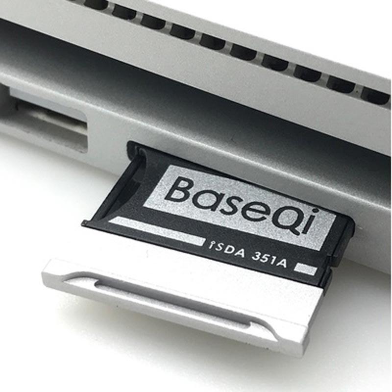 BASEQI Aluminum MicroSD Adapter 351A Micro SD/TF NinjaDrive Card Reader For Laptop Microsoft Surface Book 2 15