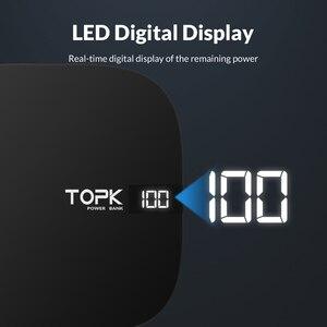 Image 3 - TOPK mini Powerbank 10000mAh ładowarka przenośny Powerbank zewnętrzny zestaw akumulatorów ładowarka z podwójnym portem usb Poverbank dla iPhone Xiao mi mi 9