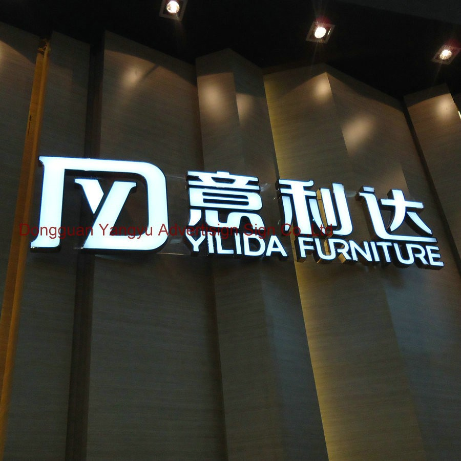 Outdoor and indoor 3D LED light Sign Letters Acrylic Advertising signage custom
