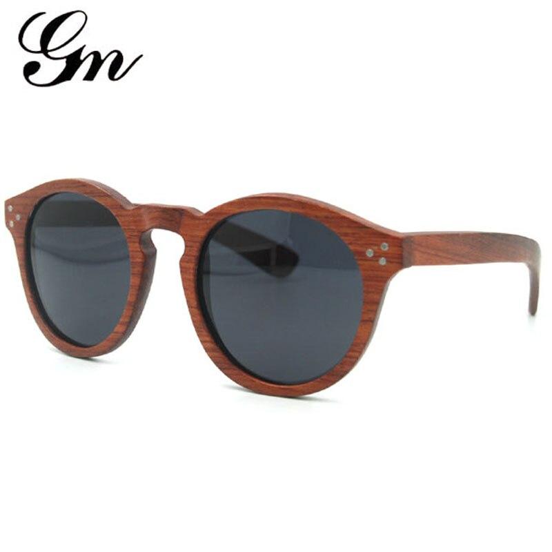 G M Male female polarized sunglasses 100% natural bamboo hand mirror glasses gift