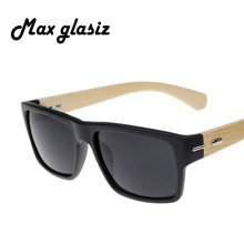 2016 New Plastic Front W Natural Horn Wood Sunglasses Designer Best Brand UV G15 Lens Shade Retail Fashion Square Oculos De Sol