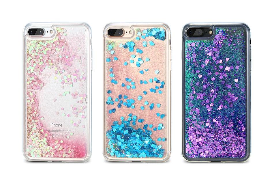 iPhone 7 Plus适用于iPhone 6的闪光灯Quicksand Cover 6S Plus 5 5S SE Sequin硅胶手机壳(2)