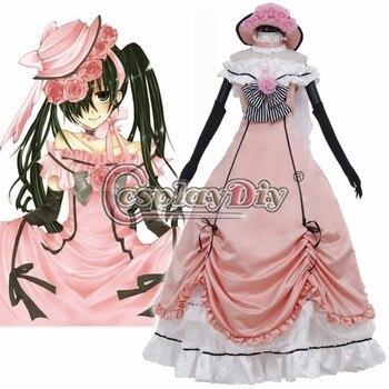 0de07c8c878b1f3 Косплэй DIY аниме Black Butler шире Платье для косплея Для Взрослых Для  женщин Хэллоуин Лолита Косплэй