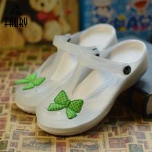 2019 nowy lato buty pielęgniarskie kobiet dziura buty antypoślizgowe miękkie dno śliczne buty ogrodowe kapcie plażowe szpital medyczny but roboczy tanie tanio FAURY Octan WOMEN Akcesoria TM3042 Medyczne Soft Comfort Breathable Nurse Shoes