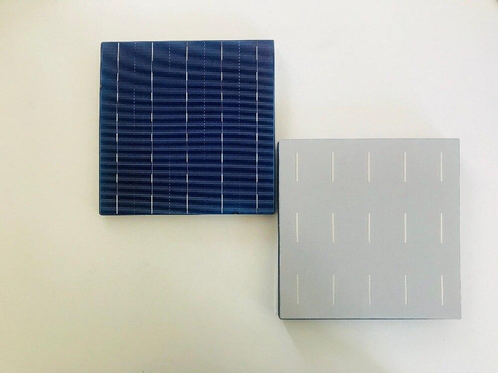 Cellules solaires en silicium cristallin Multi ALLMEJORES 156mm * 156mm 18.3% efficacité A Grade pour panneau solaire bricolage 40 pcs/Lot-in Cellules photovoltaïques from Electronique    2