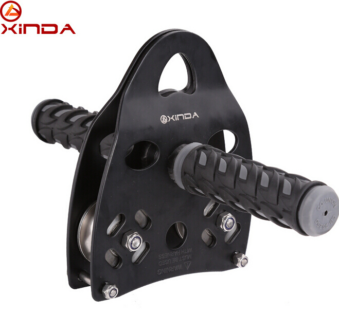 XINDA Professional Handle Pulley Roller Gear Outdoor rock climbing Tyrolean Traverse Crossing Weight Carriage Device xinda professional handle pulley roller gear outdoor rock climbing tyrolean traverse crossing weight carriage device