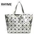 RHYME Fold Over Handbags BAOBAO Bag Women Pearl Bolso Laser Bao bao Sac Diamond Lattice Geometry Quilted Shoulder Bags