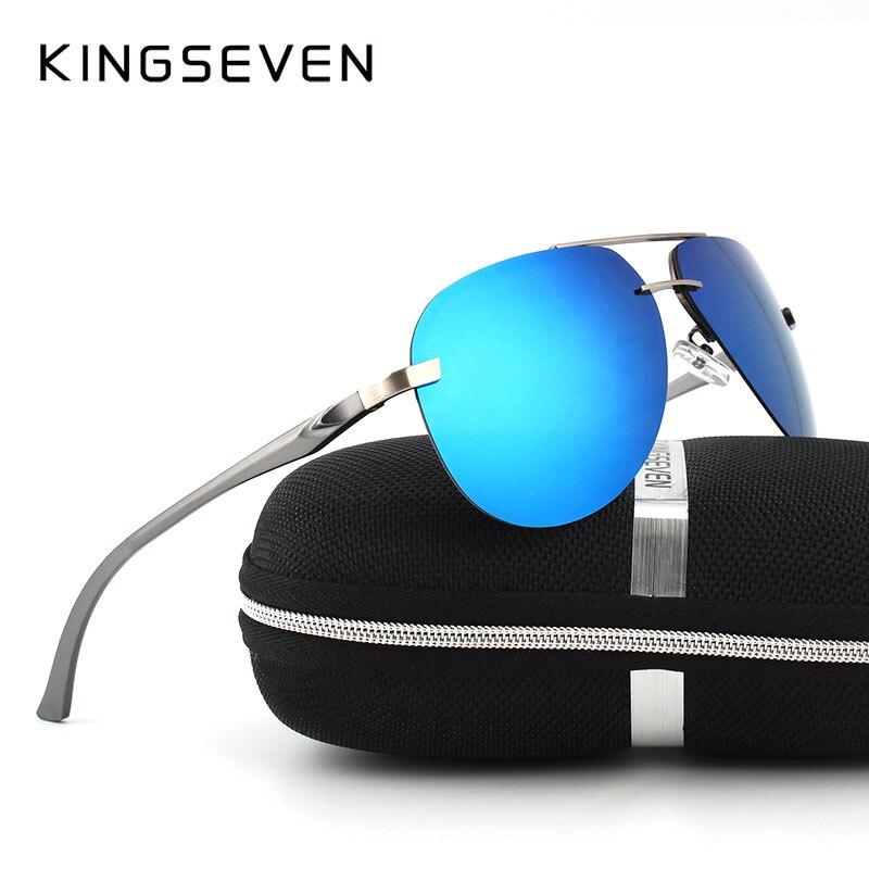 KINGSEVEN 2017 Mise À Niveau de Qualité Hommes lunettes de Soleil Femmes  Polarisées Conduite Miroir Lunettes de Soleil UV400 oculos de sol pour  Hommes d5856d4c63a5