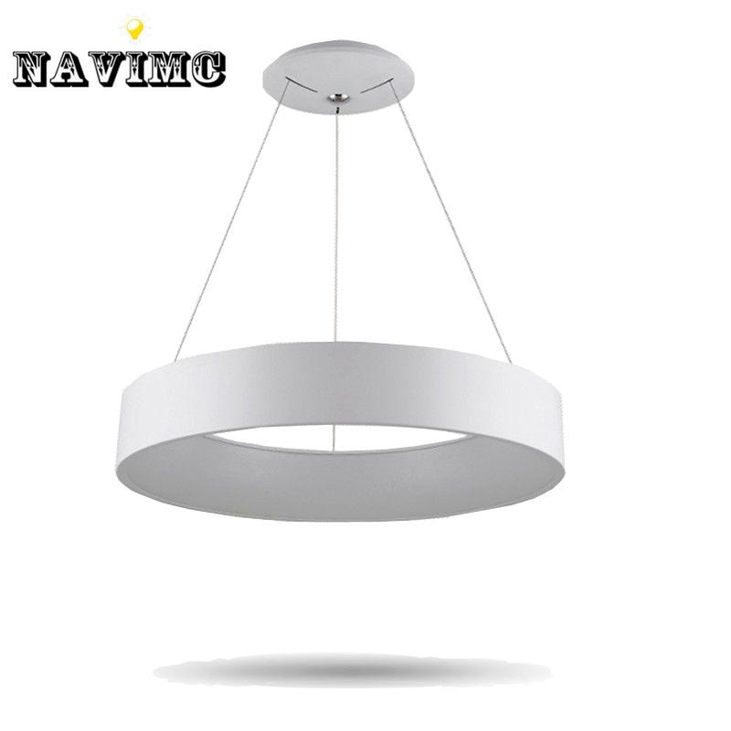 Modern round led pendant light for dining room kitchen for Modern pendant lighting for dining room