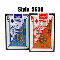 2 Deck/Lot 100% PVC plastic New pattern Baccarat Plastic Waterproof Playing Card Game Poker Cards Board Games 58*88mm cards