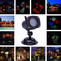 110 230V Christmas Projector Lights LED Projection Light Landscape Spotlight for Outdoor Holiday Gobos Decoration