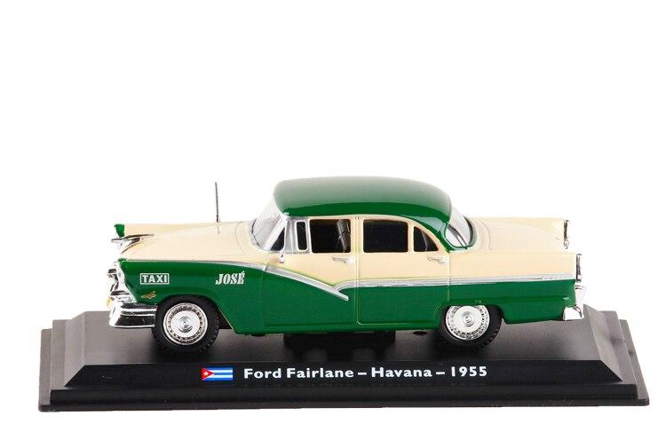 Ford Fairlane Habana 1955 Taxi Cab 1:43 Leo Models Diecast modelcar