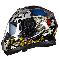 GXT Double Shield Motorcycle Helmet DOT Approved Flip Up Motorbike Helmet Bike Moto Casco