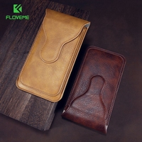5 5 Universal Leather Phone Bag Cases For IPhone 7 6 Se Case Dual Layer Belt