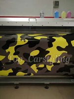 Large Pixel Yellow Black Brown Camo Vinyl Sticker Camouflage Vinil Foile Car Decals With Bubble Free