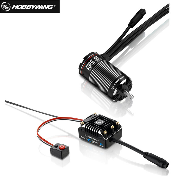 Hobbywing XeRun גרזן Brushless כוח מערכת Foc AXE550 2700KV 3300KV עם Brushless ESC עבור Rc 1/10 טיפוס מכונית