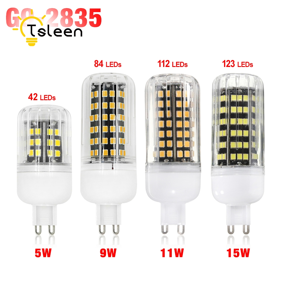 Home Decoration SMD 2835 G9 LED Lamp 5W 9W 11W 15W 220V Lampada G9 LED Light Bulb Bombillas Warm white/white LED chandelier