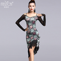 New Latin dance costumes women tango salsa rumba modern dance dress latin dancing clothes Dancewear LY7025