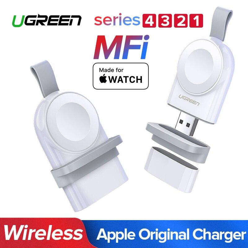 Ugreen Ladegerät Für Apple Uhr 4 Ladegerät Schnelle Drahtlose USB Ladegerät Serie 4 3 2 1 MFi Zertifiziert Original Für apple Uhr Ladegerät