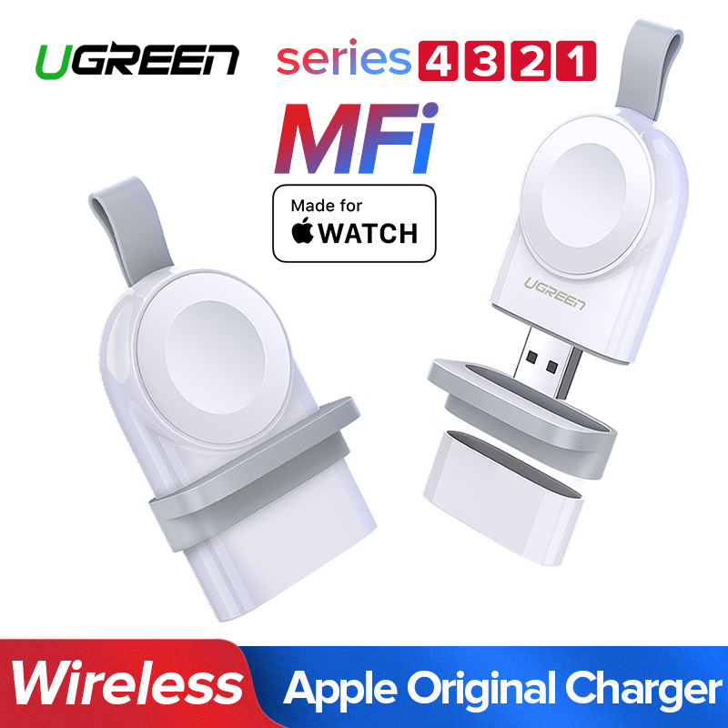 Ugreen inalámbrico cargador para Apple Watch 4 cargador rápido USB serie 4 3 2 1 MFi certificado Original para el cargador de Apple Watch
