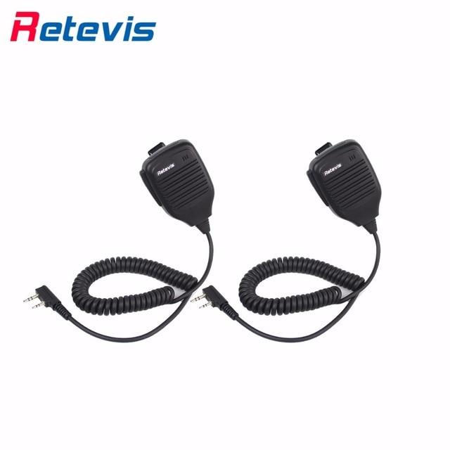 2 pcs 2pin walkie talkie uv5r ptt speaker mic para kenwood baofeng uv5r/888 s tyt shoulder speaker micphone ru