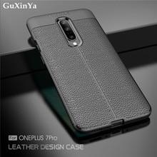 GuXinYa Oneplus 7 Pro Phone Case Oneplus 7 Pro Luxury Leather ShockProof TPU Protective Case For Oneplus 7 Pro Funda 6.64″