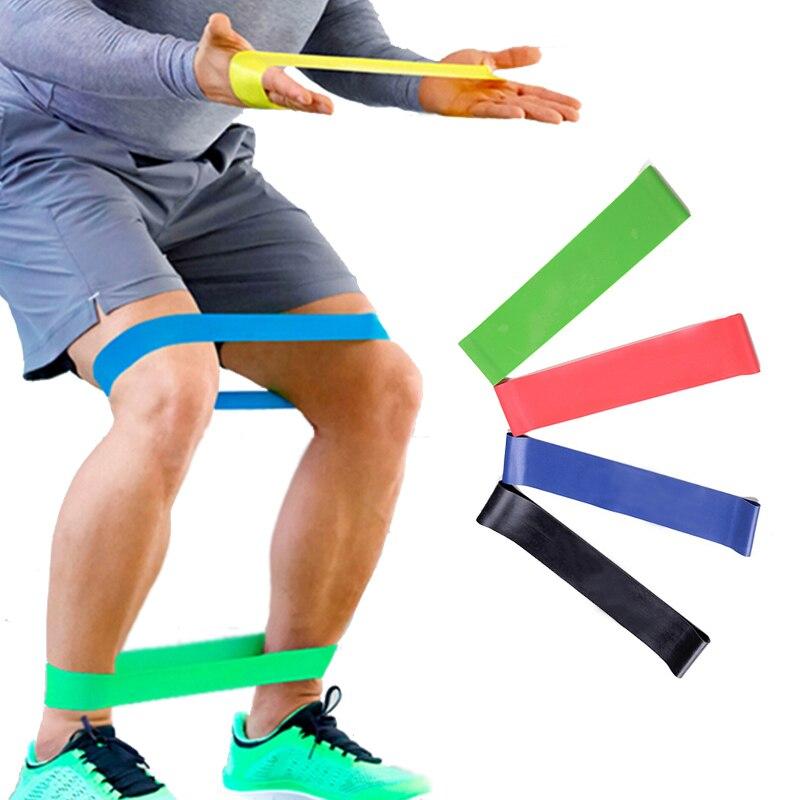 4 уровня Эспандеры, Йога тренажерный зал силовых тренировок Фитнес, эластичный резиновый сопротивление контура Crossfit тренажеры