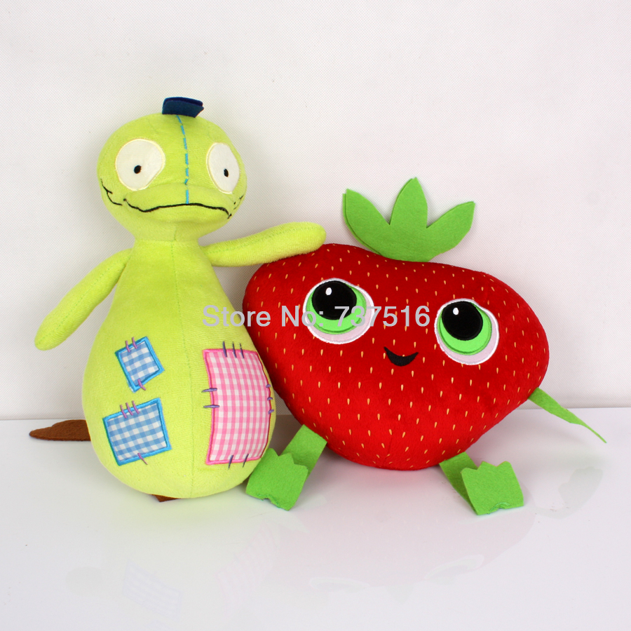 "New Arrival 12'' Patchy Patch TOOPY And BINOO Plush & Meatballs 2 Cute Barry Strawberry Stuffed Plush 10"" Soft Toys Set of 2Pcs"