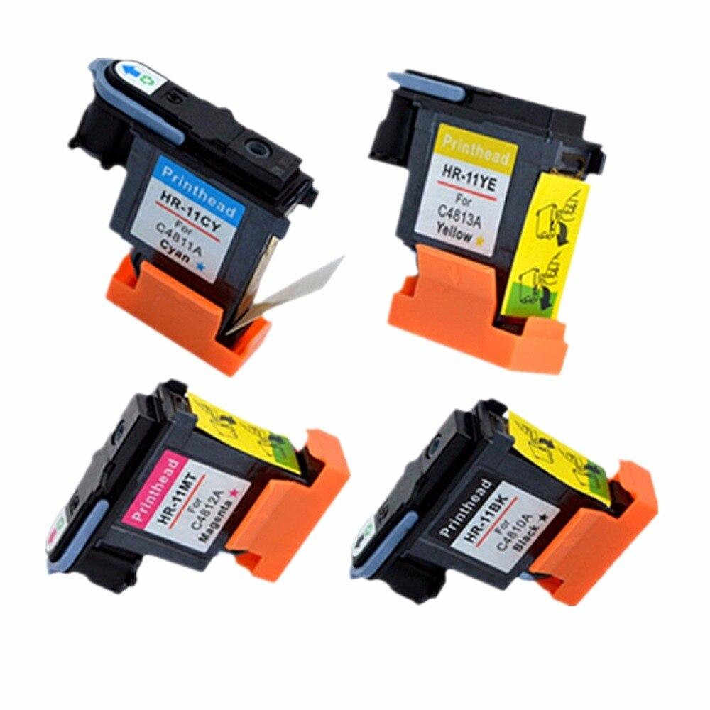 1 Set Printhead Print Head For HP11 HP 11 C4810A C4811A C4812A Designjet 70 100 110 500 HP510 500PS DeskJet 2250 2250tn Printer