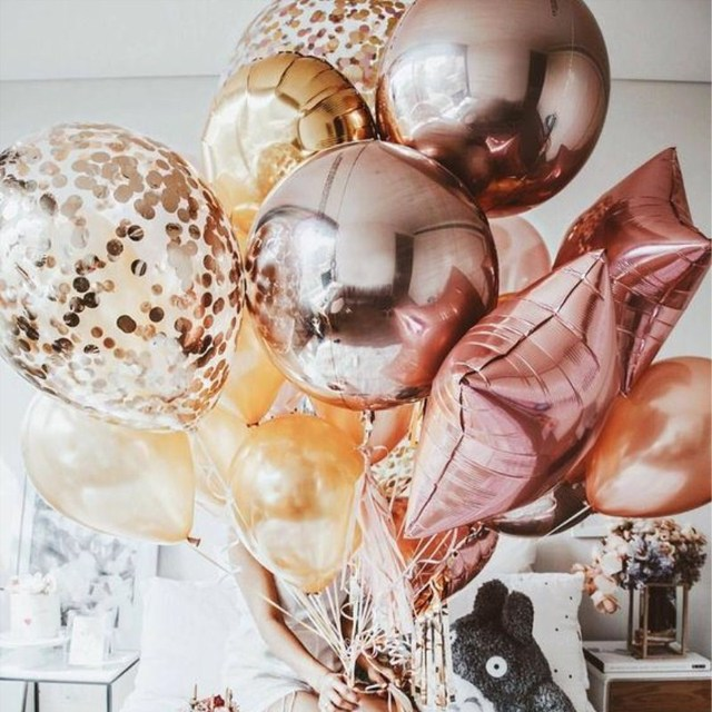 Rose Gold Balloon Bride to Be Foil Helium number Balloons Wedding Happy Birthday Party bridal shower Decor Kids Party Favors