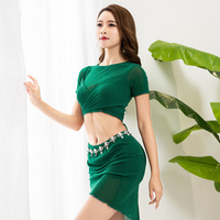 2019 New Sexy Belly Dance Costume Set Women Lady Tops Skirt 2 Pieces Costume For Oriental Dances Training Suit For Belly DWY1429