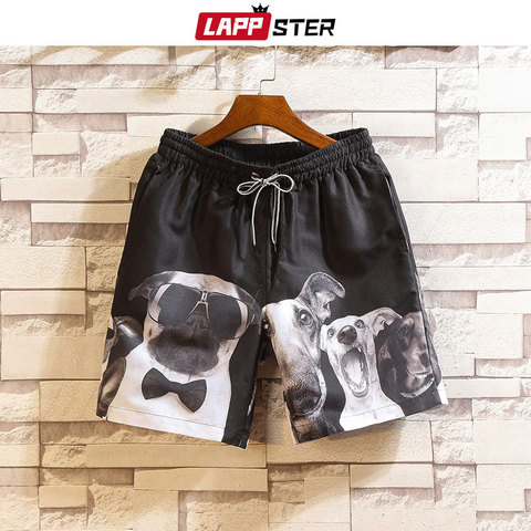 LAPPSTER Men Summer Patchwork Shorts 2019 Mens Streetwear Hip Hop Shorts Casual Shark Polyester Colorful Sweat Shorts Big Size Lahore