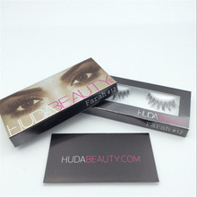 Professional Huda Beauty False Eyelashes Messy Cross Thick Natural Fake Eye Lashes Makeup BeautyMakeup Bigeye Eye Lashes
