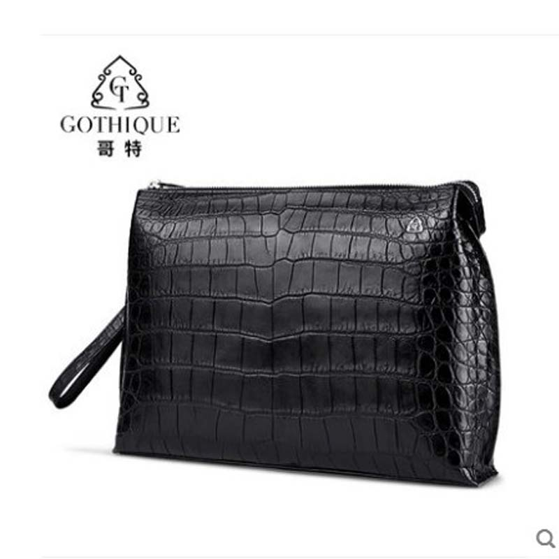 gete 2019 new New crocodile belly hand bag mens leather large capacity hand bag fashion personality crocodile bag mens baggete 2019 new New crocodile belly hand bag mens leather large capacity hand bag fashion personality crocodile bag mens bag
