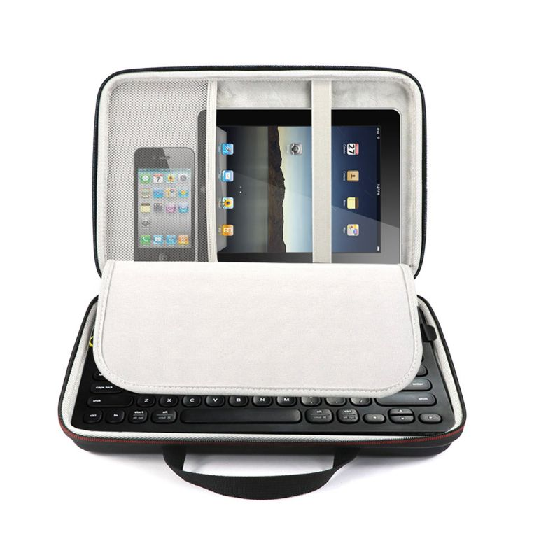 Portable Anti-shock Hard EVA Storage Bag Travel Carrying Case For Logitech K480 Wireless Bluetooth Keyboard Accessories