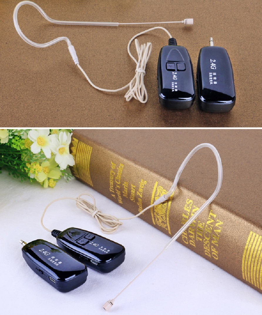 Ear Hook 2 4G Wireless Microphone Lavalier Lapel Skin Color Microphones Invisiable Headset MIC for Voice