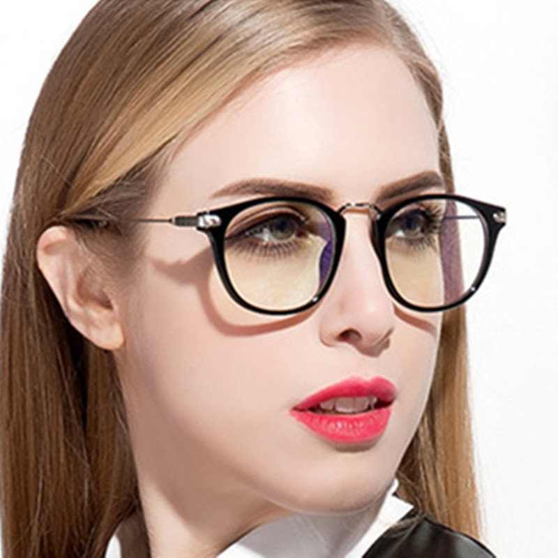 brand design grade spectacle frame eyeglasses frames women men ladies optical plain mirror computer eye glasses