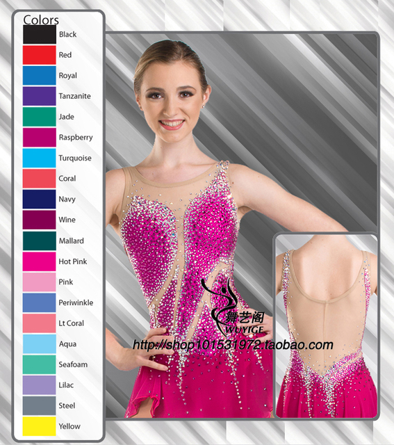 red skating skirt women high quality women skating dress lycra or spandex choose figure skating clothing custome free shipping
