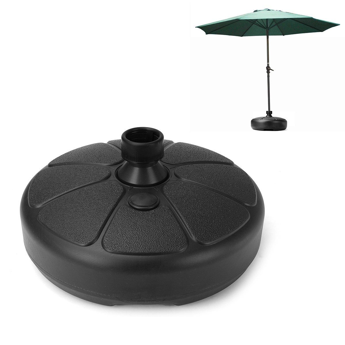 Durable Outdoor Parasol Garden Umbrella Base Stand Round Patio Umbrella Bases Foundation Billboard Holder Sun Shelter Accessory umbrella stand outdoor furniture modern umbrellas stand sunshade stall umbrella beach garden umbrella bases