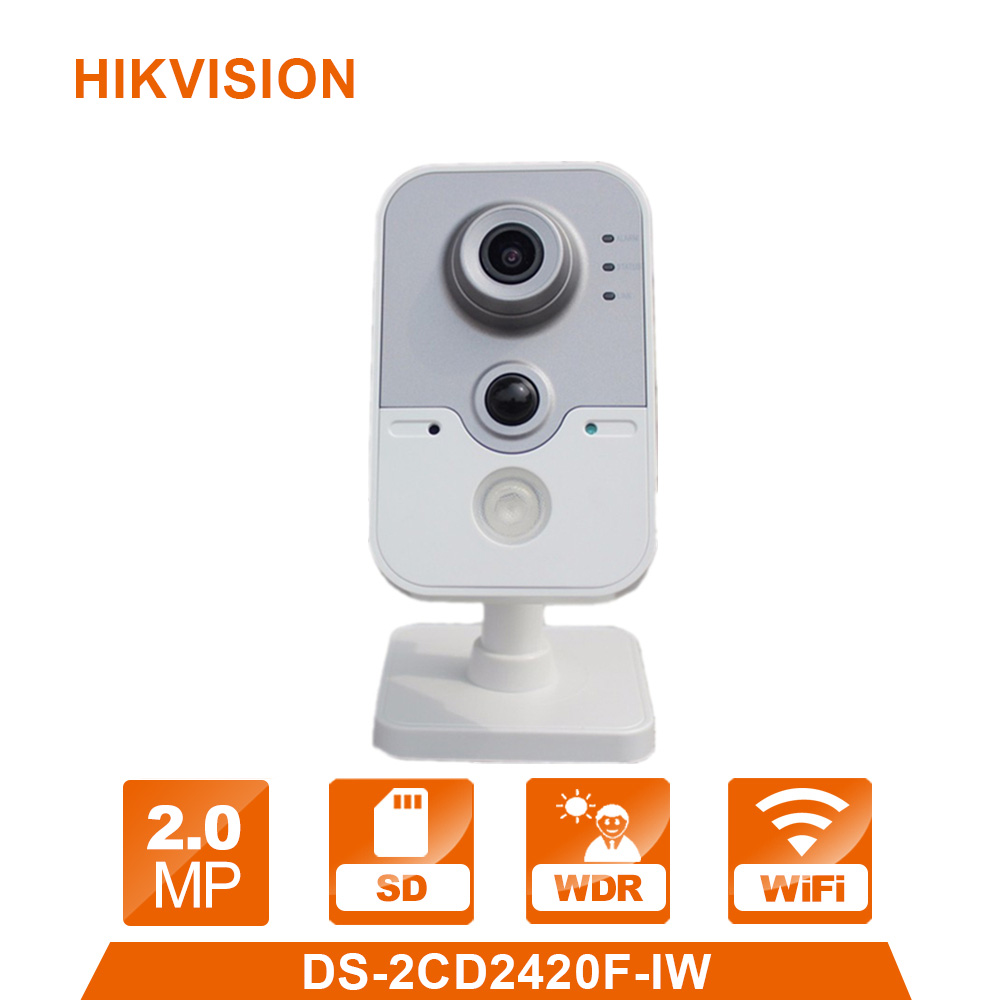 English Version HIK WiFi Camera DS-2CD2420F-IW 1080P Wi-Fi Home Security Camera 2MP IR Cube Network CCTV Cam Baby OEM IPC3412-W free shipping ds 2cd2442fwd iw english version 4mp ir cube network cctv security camera mini wifi ip camera poe 10m ir